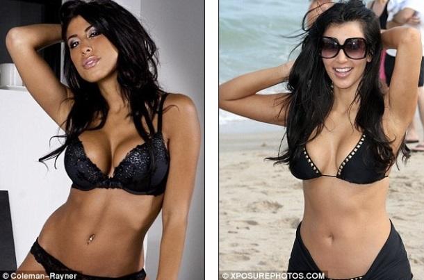 A gauche Leyla Ghobadi, à droite kim kardashian.