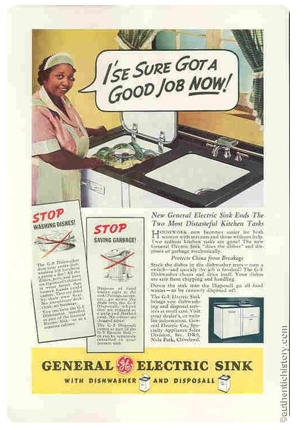 LES PUBLICITES LES PLUS RACISTES ET SEXISTES DE L'HISTOIRE - General Electric kitchen and dishwasher