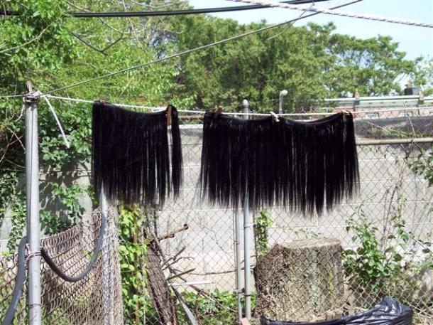 weave drying / méches cheveux brésiliens qui séchent