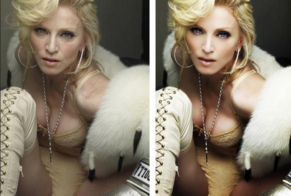 IL FAUDRAIT BANNIR LES IMAGES PHOTOSHOPPEES DANS NOS MAGAZINES ? (Madonna)