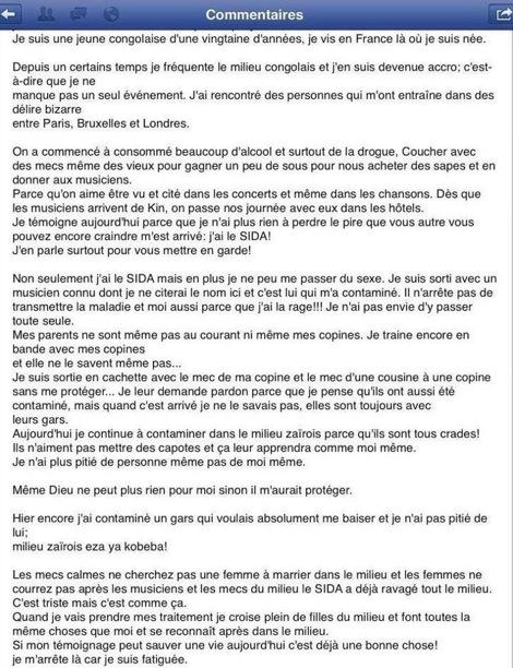 CHOQUANT LE TEMOIGNAGE D'UNE JEUNE CONGOLAISE
