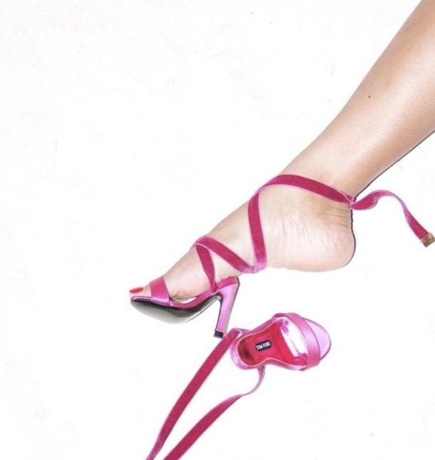 Une photo postée par Beyonce sur son site IAm.Beyonce montrant les chaussures à talon créées par Tom Ford pour Blue Ivy.